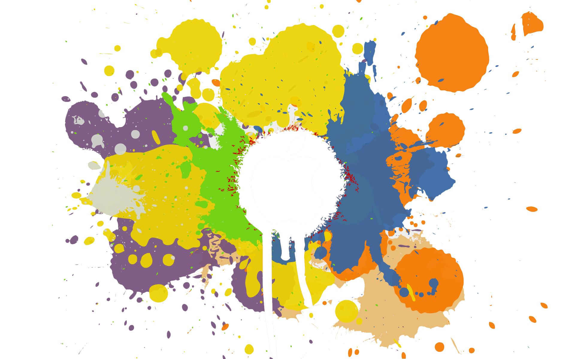 Vector splashes colorful. Splash colors png image