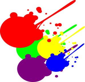 Vector splatters clip art. Paint splatter at clker