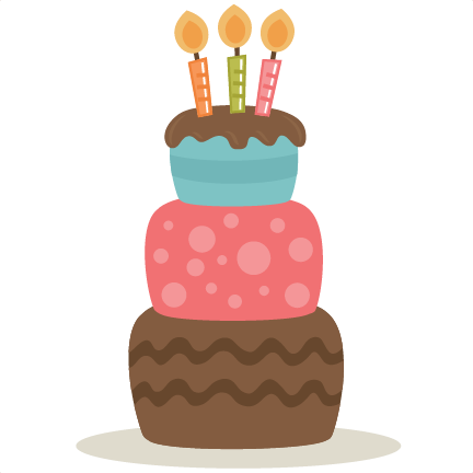 Vector spoon dessert. Birthday cake clipart no