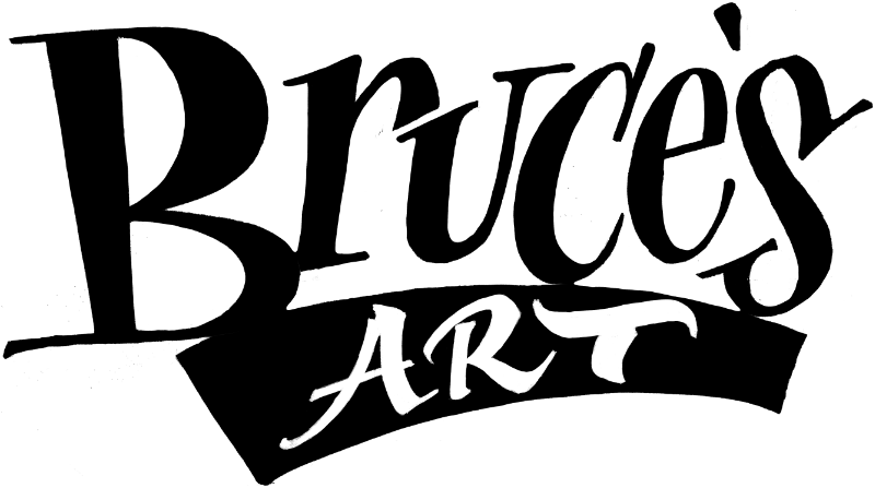 Vector spray calligraphy. Creating a gradient texure
