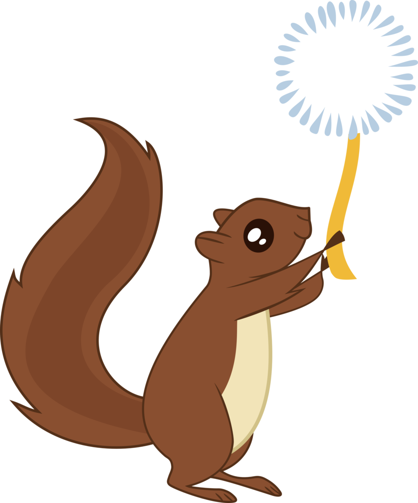 Vector squirrel. Absurd res animal