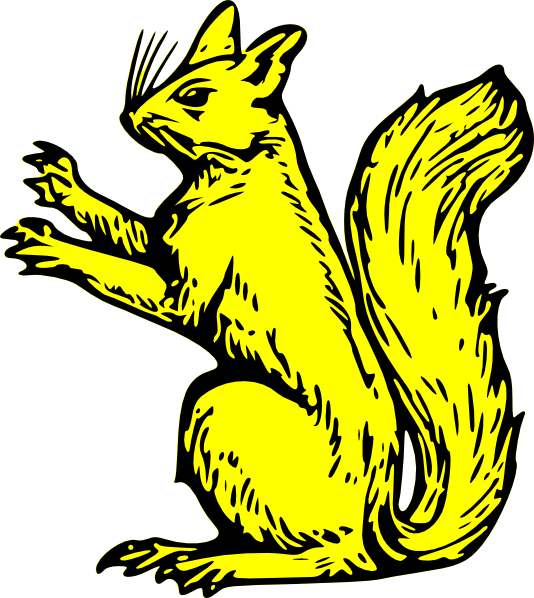 Vector squirrel art. Free clip graphic available