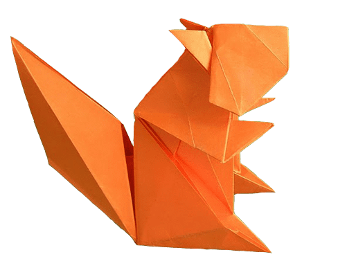 Vector squirrel origami. Download free png dlpng