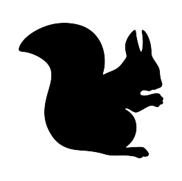 Vector squirrel tree silhouette. At getdrawings com free
