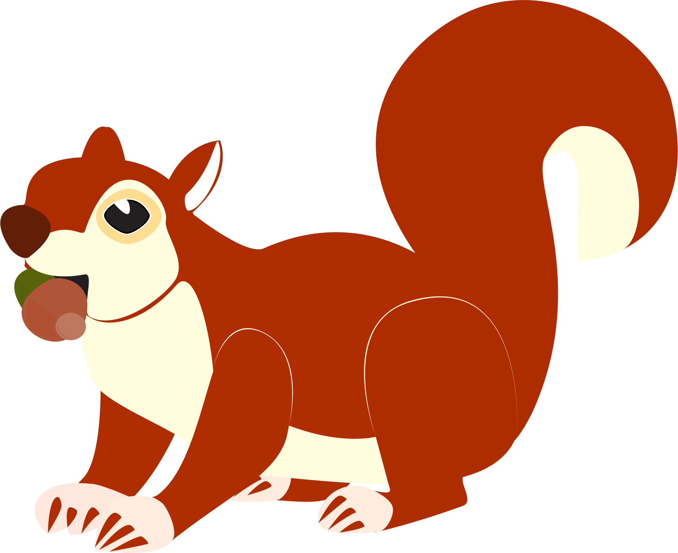 Vector squirrel tree silhouette. Red at getdrawings com