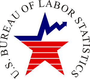 Vector statistics. Bureau of labor logo