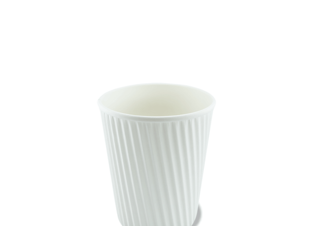 Packaging vector white plastic. Coffee cup of hot