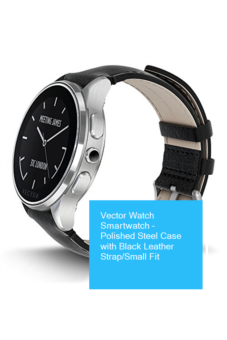 Product vector leather. Watch smartwatch polished steel