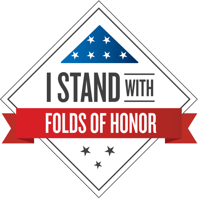 Vector stickers folded. Folds of honor military
