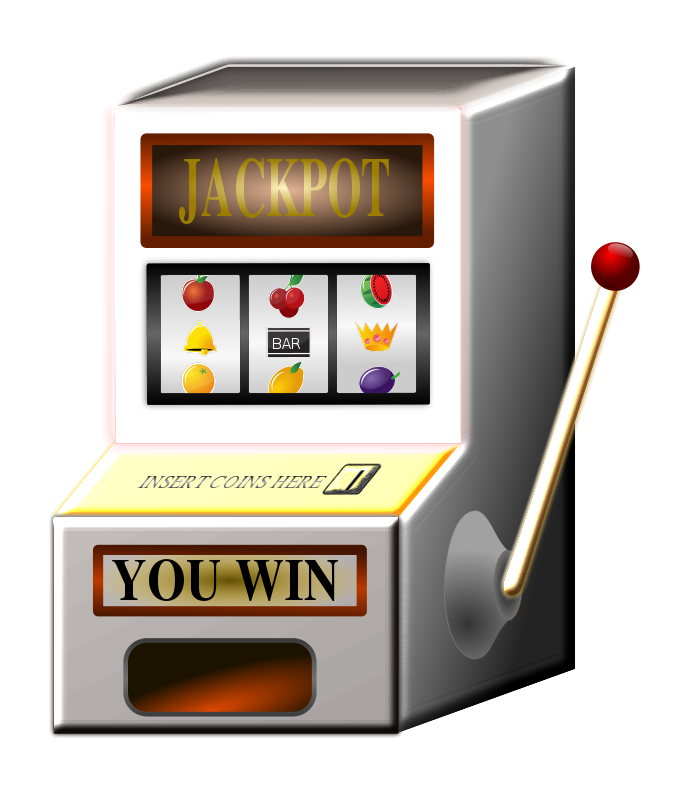 Vector stickers slot machine. Graphic free stock download