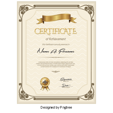Modern vector certificate border. Png images vectors and