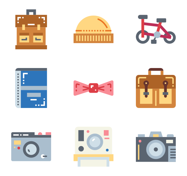 Modern vector desain. Hipster icons free