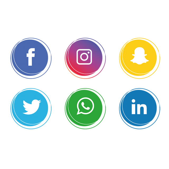 Vector stock.com social media strategy. Icon set network share