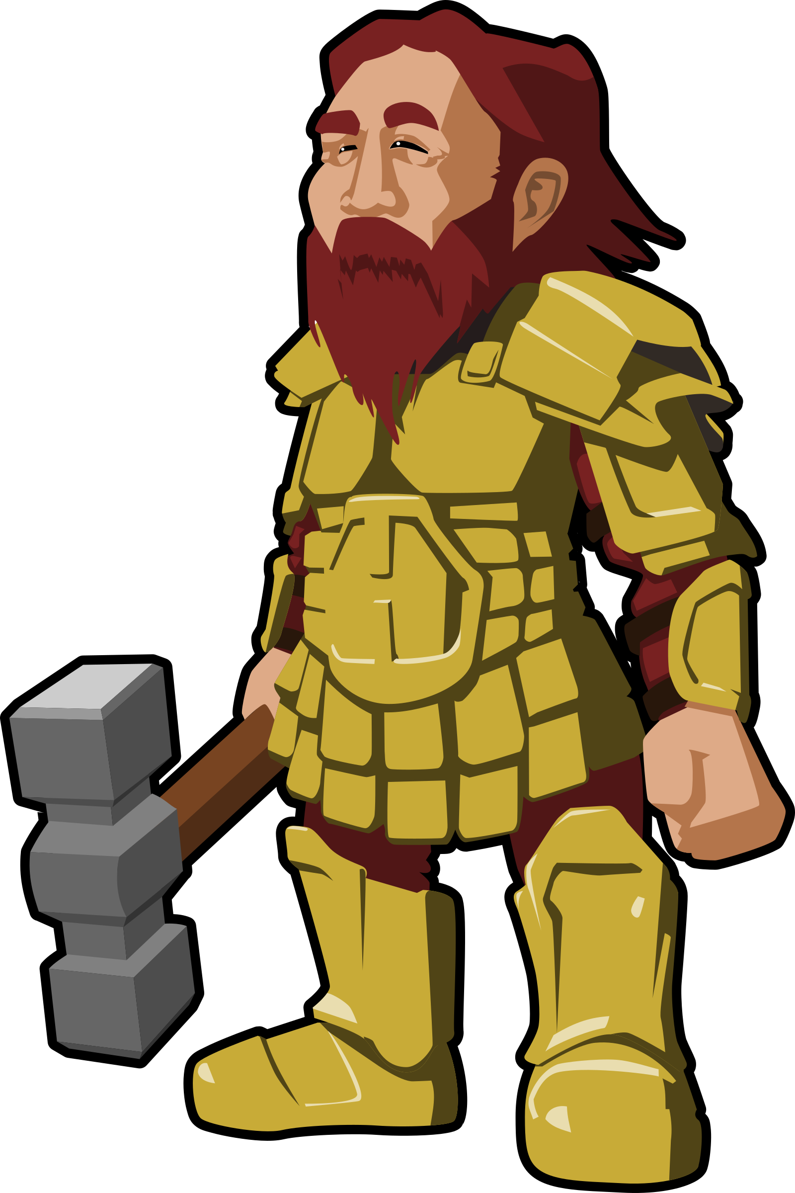 Vector stock.com warrior. Collection of free dwarfed
