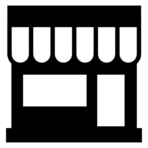 Storefront vector awning. Free stores icon download