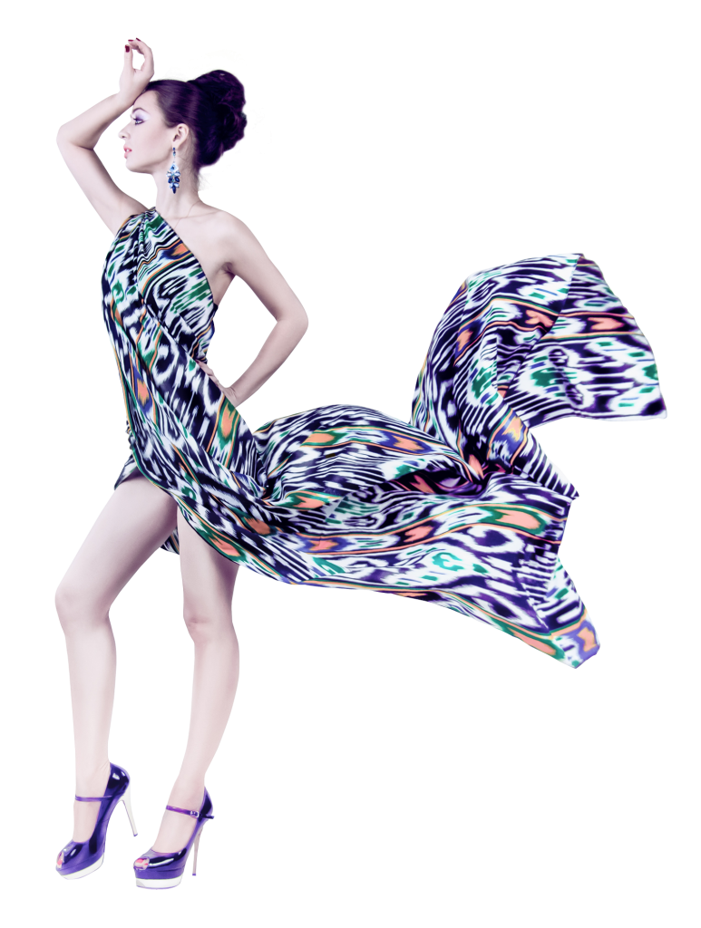Vector style fashion model. Png image with transparent