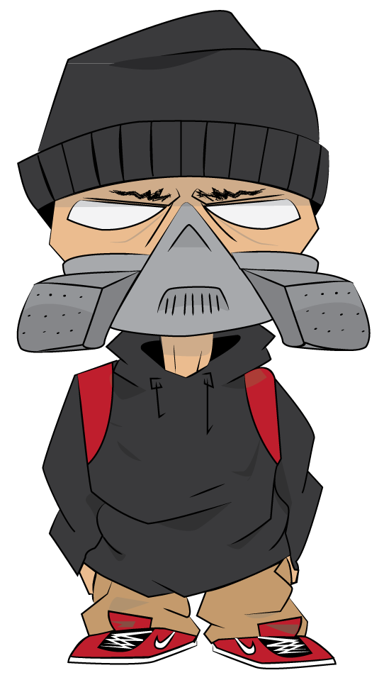 Vector style graffiti. Character by ntnnz on