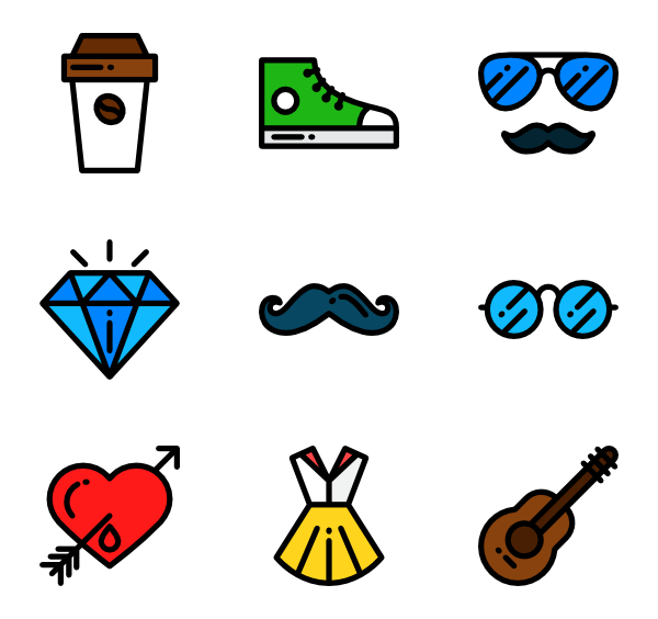 Vector style pack free. Lineal detailed icon