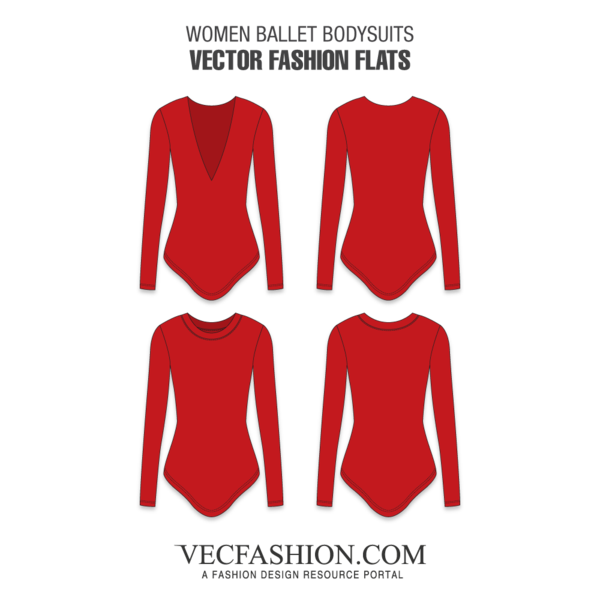 Vector women fashion. A template set of