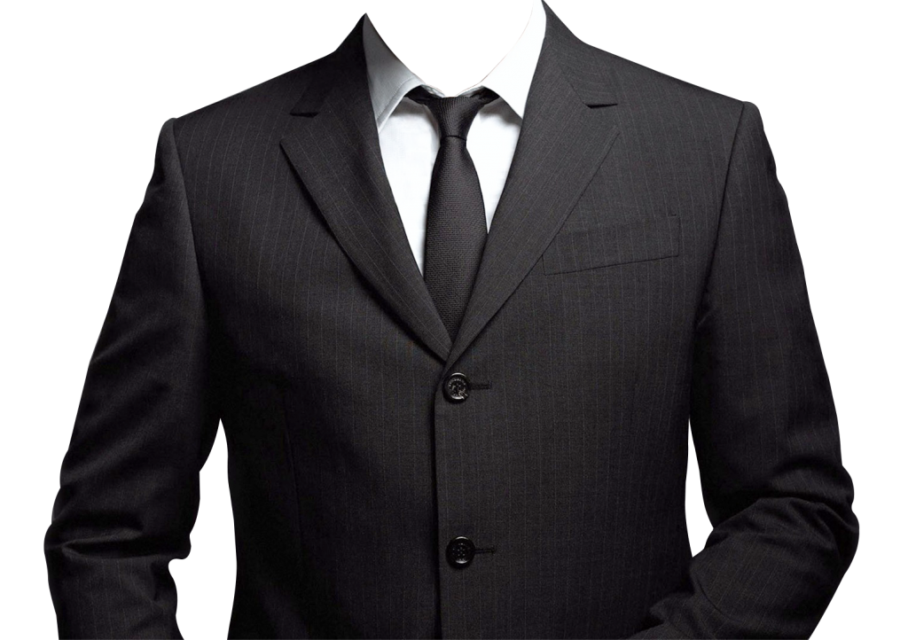 Vector suit blank. Black png free download