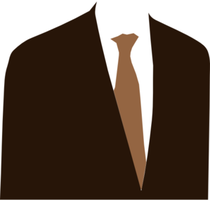 Vector suit clipart. Brown clip art at