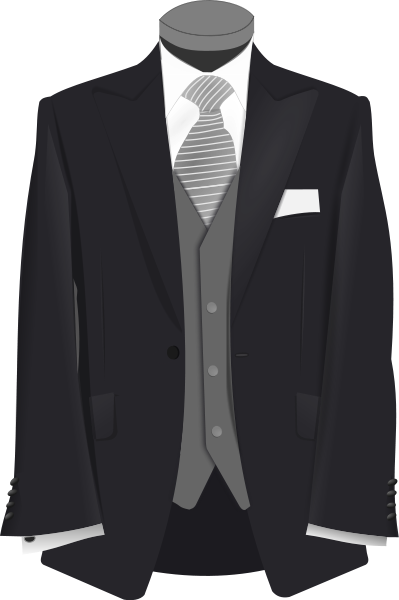 Vector suit clipart. And dress
