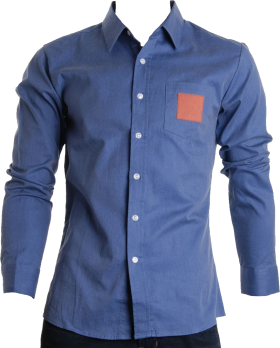 Vector suit corporate. Denim blue full plain