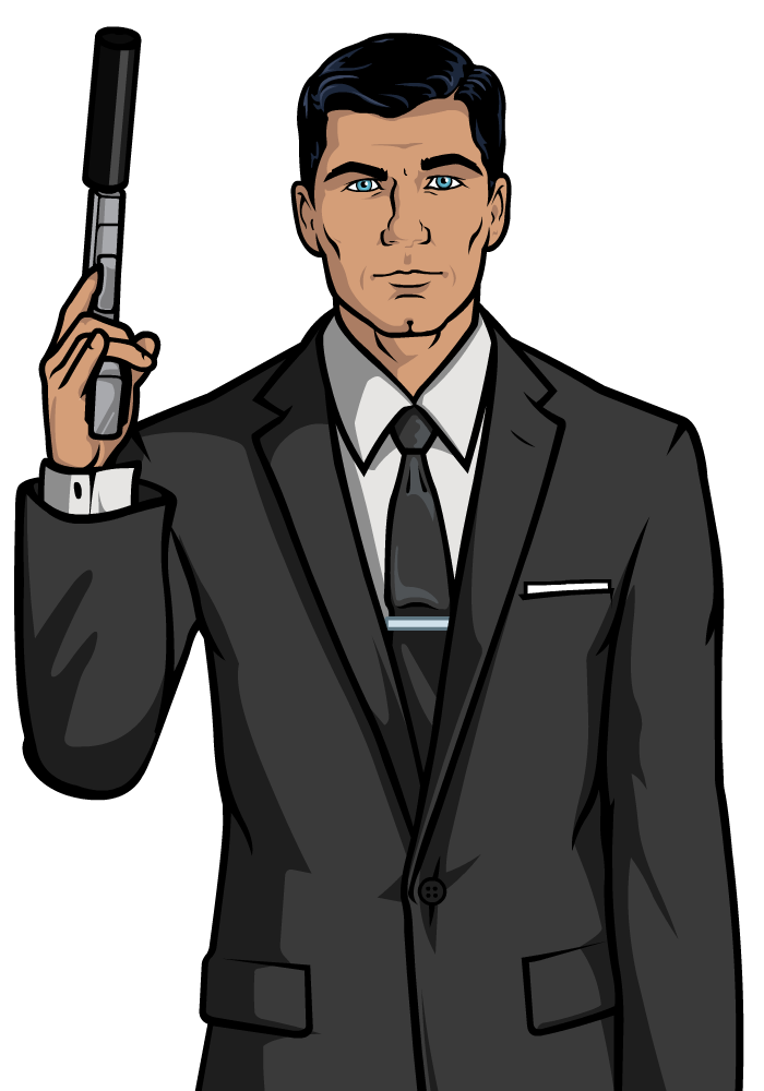 Vector suit hitman. Sterling archer by flash