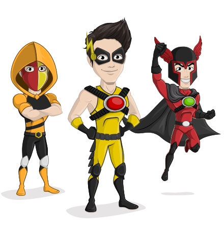 Mascot vector superhero. Creation kits graphicmama a