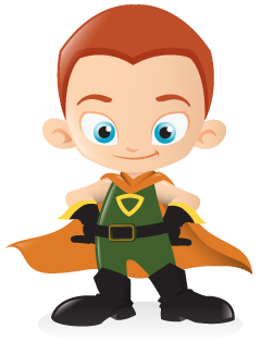 Mascot vector superhero. Freebie kids illustration pack