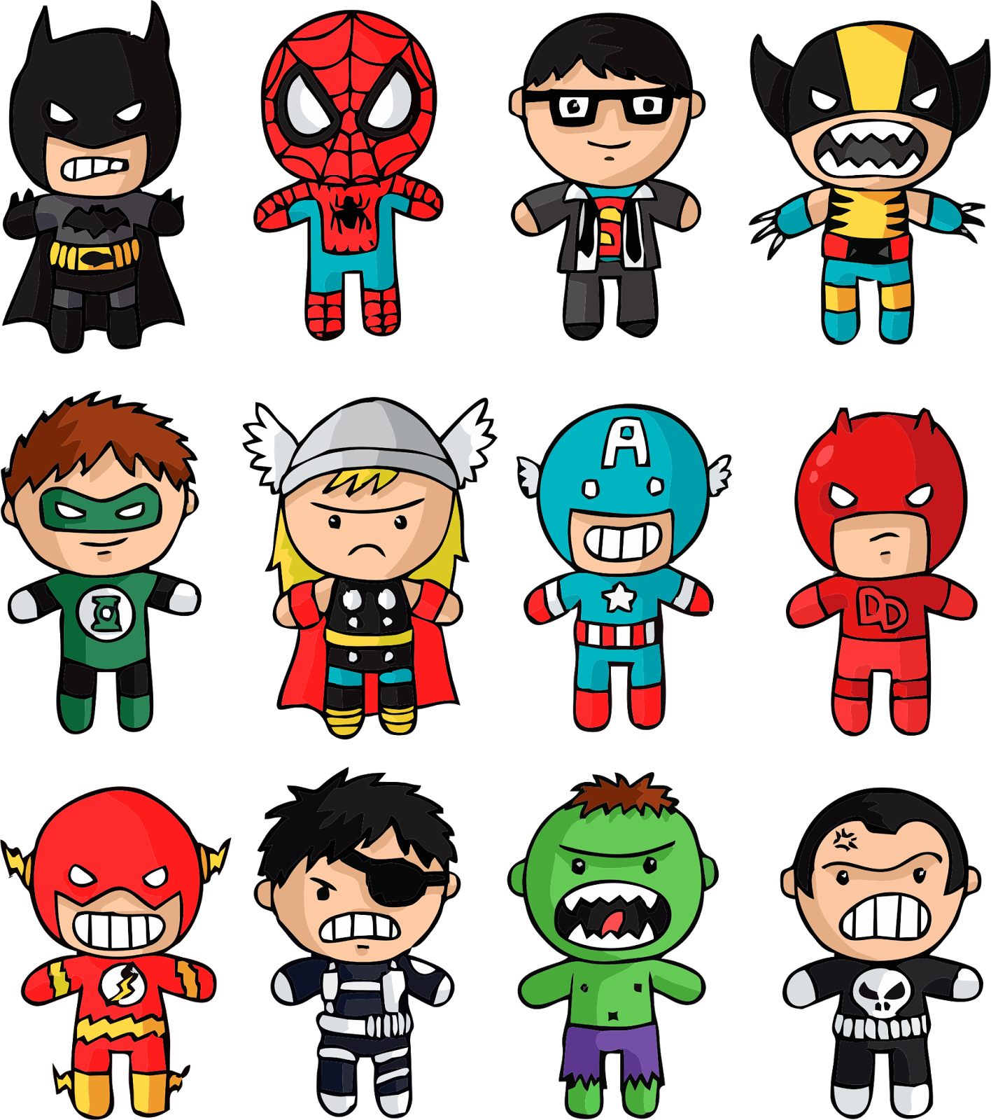 Vector Superhero Chibi Picture 1556789 Vector Superhero Chibi