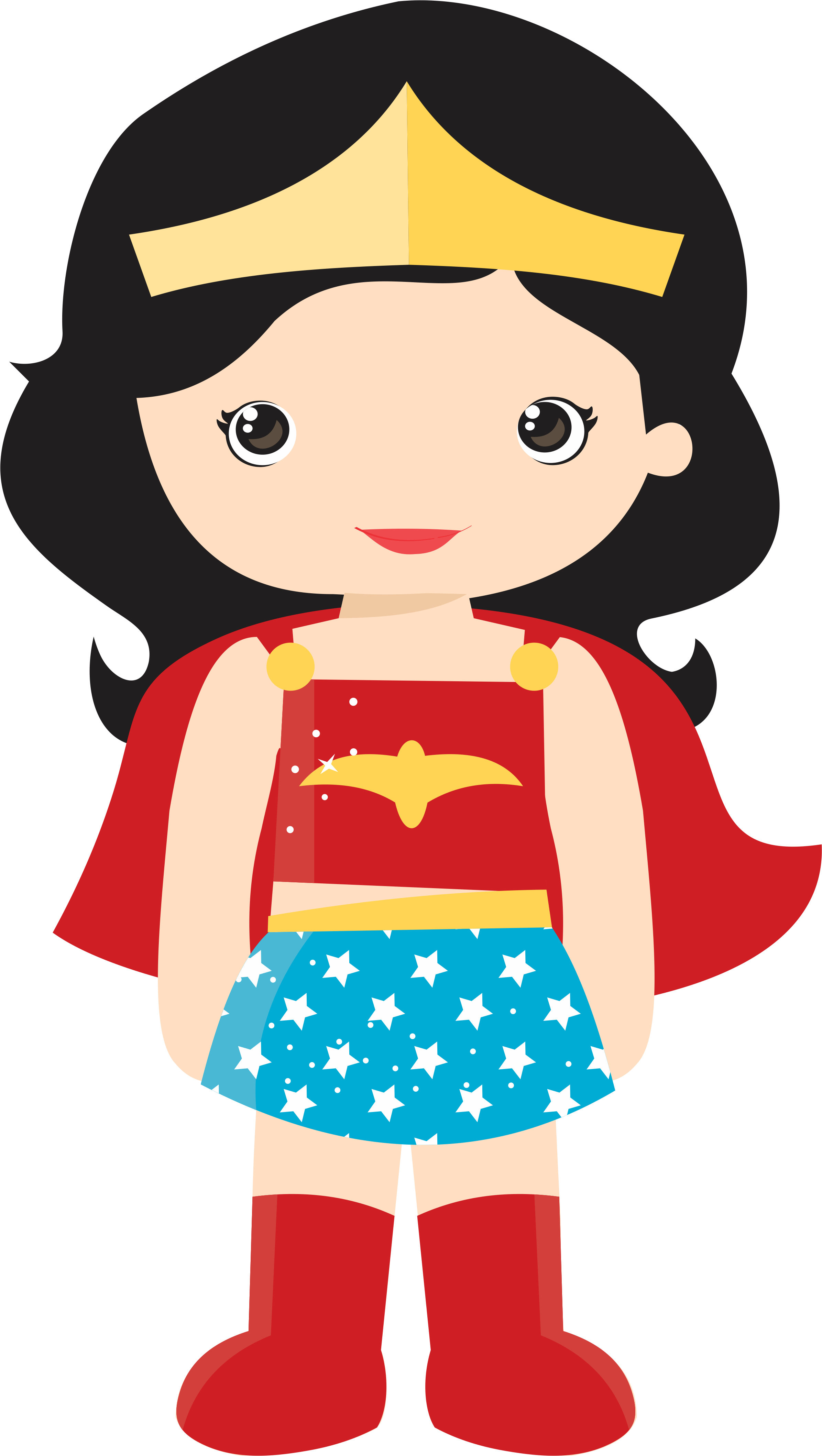 Vector superhero female. Dc girls clipart at