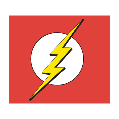 Vector superhero heroine. Flash logo villains and