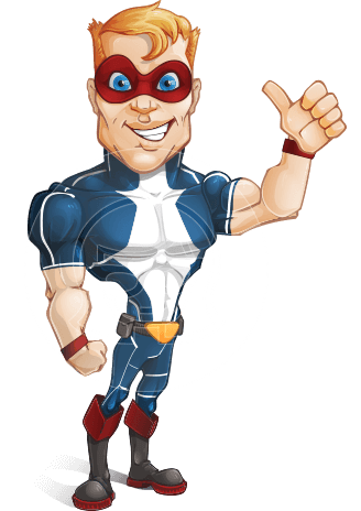 Vector superhero. Cartoon characters ultimate packs