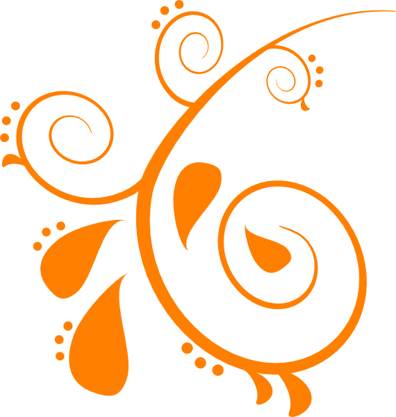 Swirly vector. Orange swirl clip art