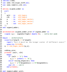 Vector syntax coding. Vhdl wikipedia