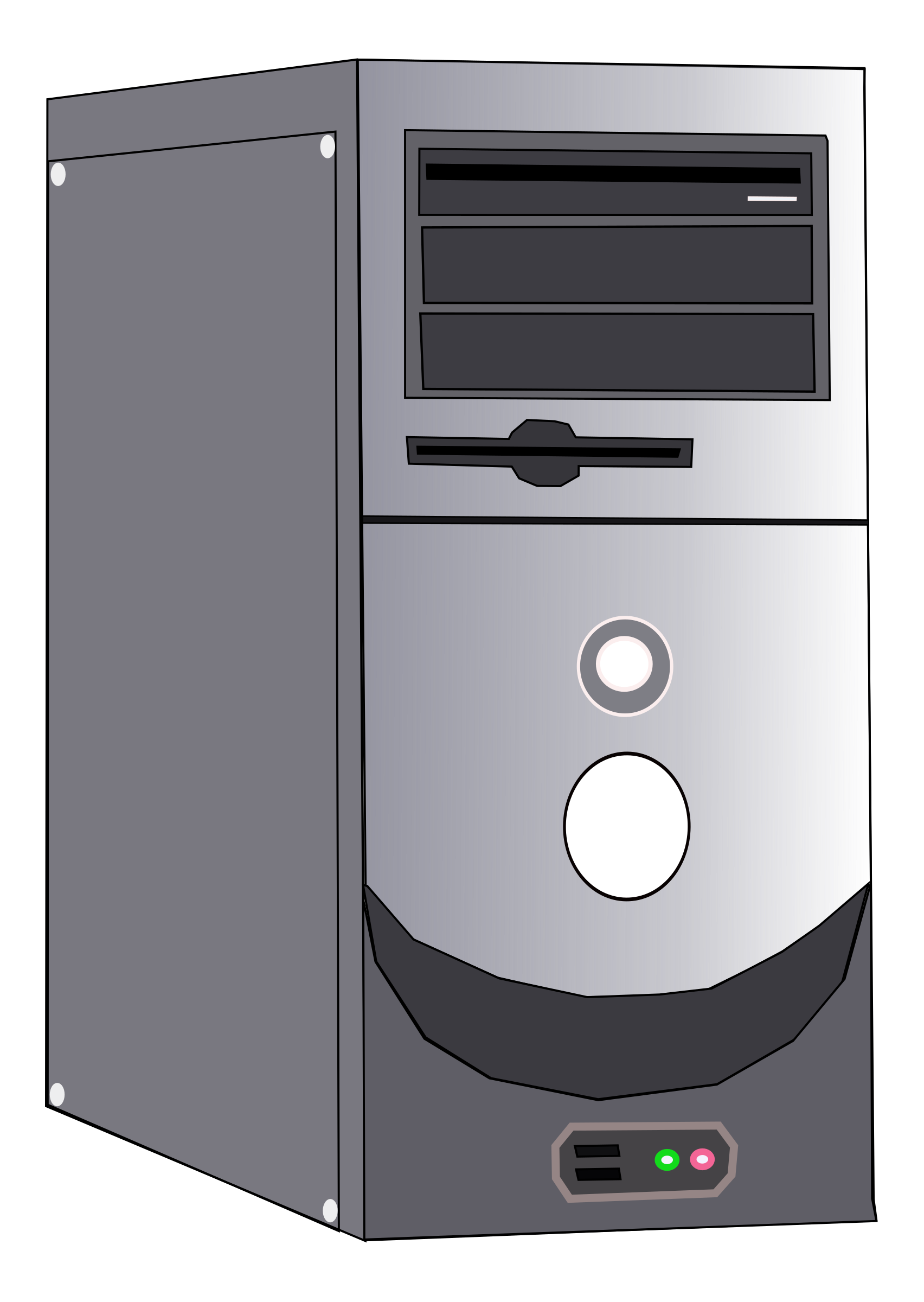 Vector system computer. Clipart case big image