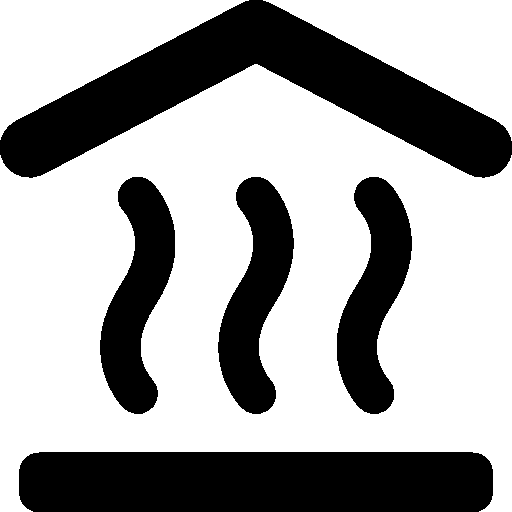 Vector system heating. Household room icon windows