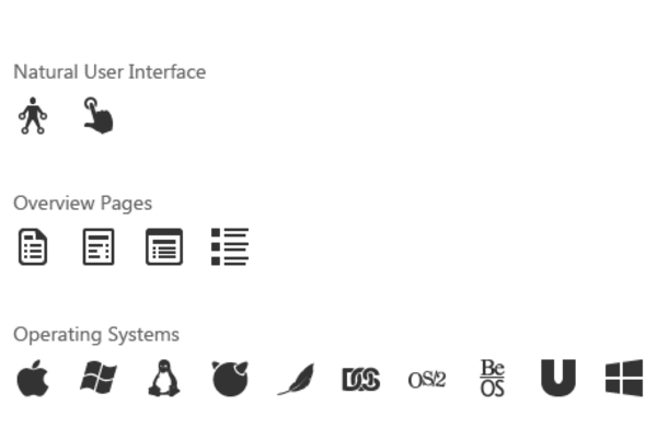 Vector system operating. Windows icons natural ui