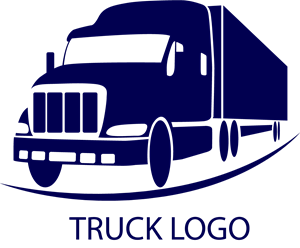 Truck transparent vector. Travel and transport logo
