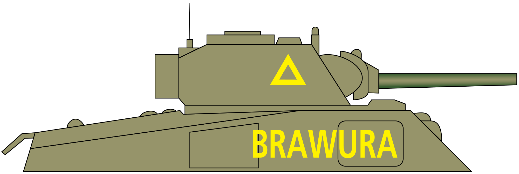 Vector tank sherman. File polish namefree svg