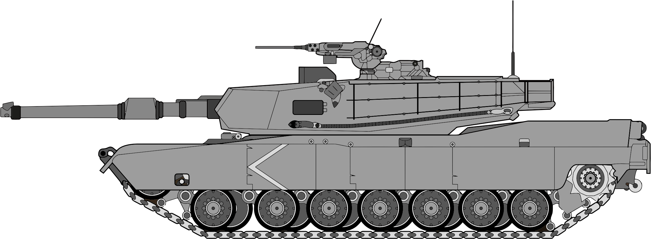 Vector tank turret. Profile illustration icons png