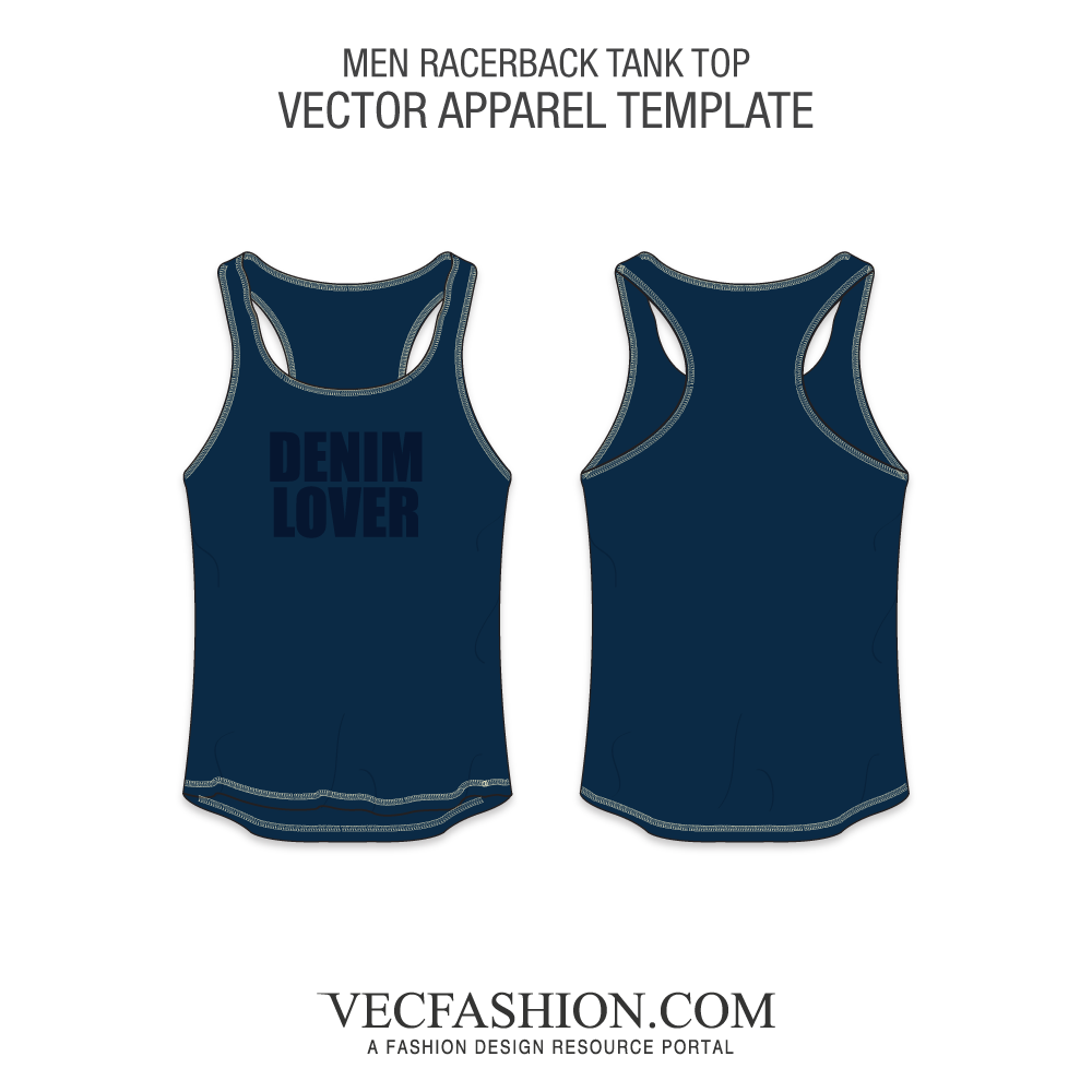 Vector tank vest top. Relax fit racer back