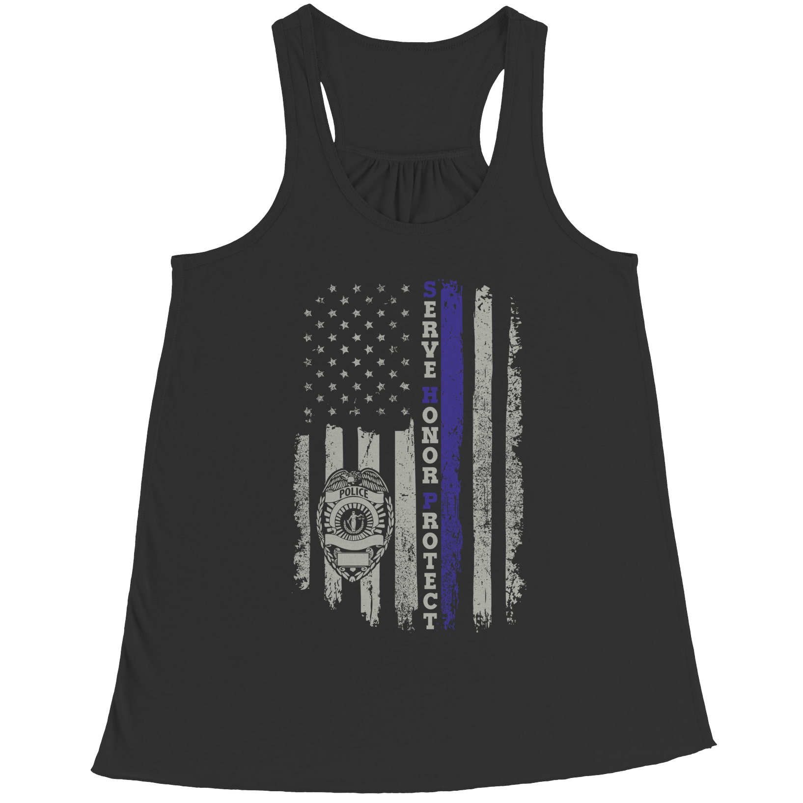 Vector tank vest top. Limited edition serve honor