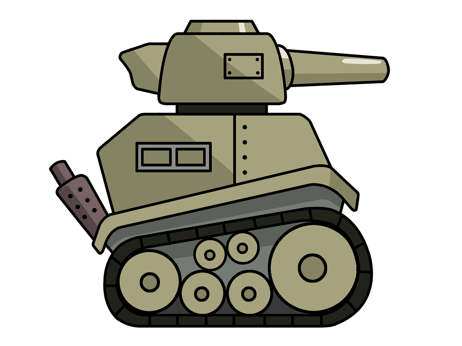 Vector tank white background. Military silhouette at getdrawings