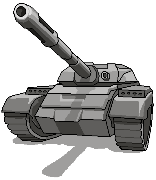 Vector tanks army. Tracing image and make