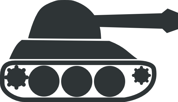Tank clipart tank outline. Gray clip art at