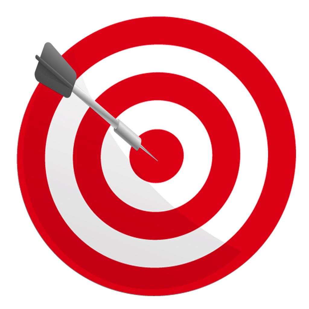 Vector target background. Round png image with