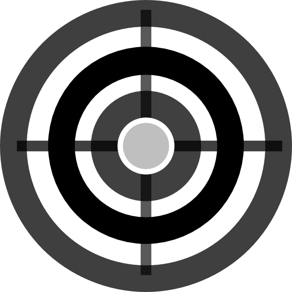 Vector target black and white. Picture library huge
