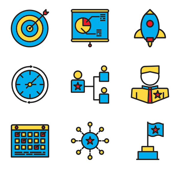 Vector target blank. Icons free business management